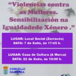 Charla-coloquio: VIOLENCIAS CONTRA AS MULLERES. SENSIBILIZACIÓN NA IGUALDADE DE XÉNERO